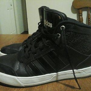 8.5 Adidas black high top sneakers